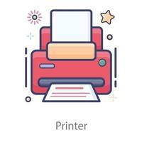 tipógrafos de diseño de impresoras vector