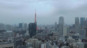 Tokyo, Japan circa-2018.  Time lapse shot of Tokyo on cloudy morning. video