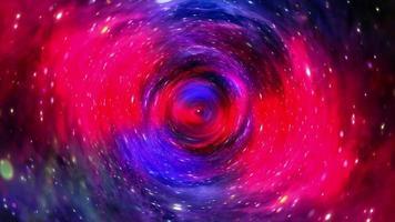 Túnel hiperespacial a través del vórtice del espacio-tiempo púrpura azul vivo video