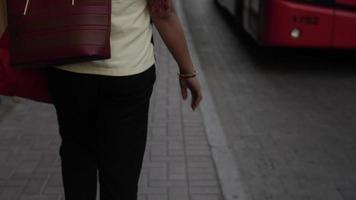 A Middle Eastern Woman Walking In Dubai video