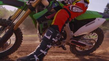 Motocross racer putting on helmet 4K fully released video