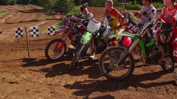 Group of Motocross racers hanging out 4K fully released video