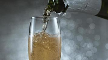 Pouring champagne in super slow motion.  Shot on Phantom Flex 4K high speed camera. video