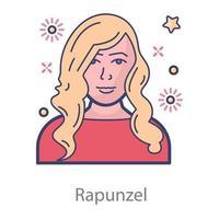 Rapunzel Character Fairy vector