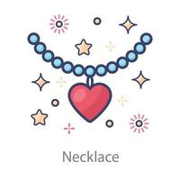 Necklace Chain of Beads vector