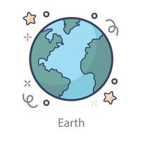 Earth Day icon vector