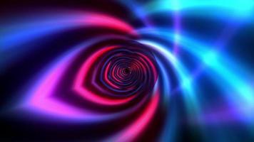 blårosa neonspektrum glödande futuristiska linjer roterar video