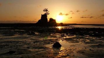 solnedgång vid Siletz Bay, Lincoln City, Oregon video