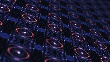 lazo azul púrpura tecnología virtual espacio patrón de mosaico video