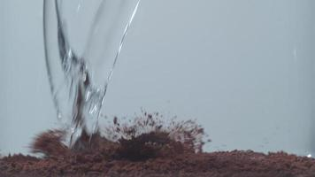 Pouring water into instant coffee, shot with Phantom Flex 4K at 1000 frames per second video