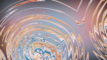 Shiny colorful multicolored swirls round texture loop motion video