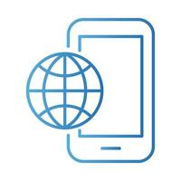 smartphone with sphere browser payments online gradient style vector