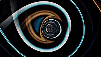 túnel vj loop hipnótico cibernético futurista multicolorido sem fim video