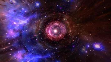 interstellaire vlucht tijdreizen kleurrijke hyper ruimte lus video