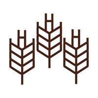 icono de estilo de línea de picos de trigo vector