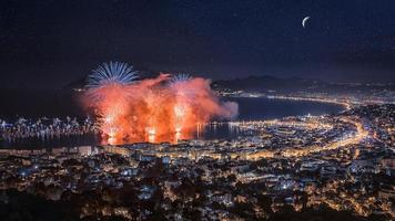 Firework festival in Cannes France photo