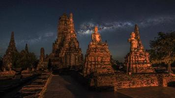templo wat chai watthanaram en ayutthaya foto