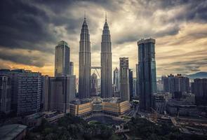 Kuala Lumpur city at sunset photo