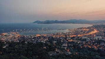 The city of Cannes in the summer on the French Riviera photo