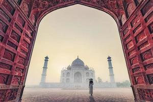 Taj Mahal in the morning   Agra   India photo