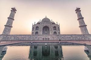 taj mahal en la mañana agra india foto