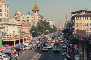 ciudad de yangon en myanmar foto