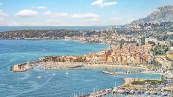 The city of Menton on the French Riviera photo