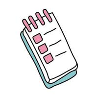 notebook school supply free form style icon vector