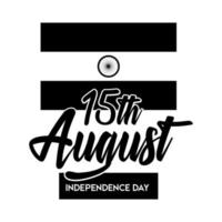 india independence day celebration with flag silhouette style vector