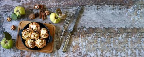 Quince baked with cottage cheese photo