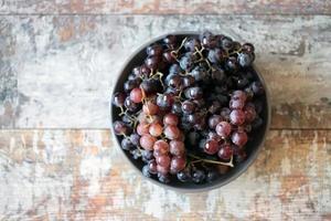 Ripe fresh grapes photo