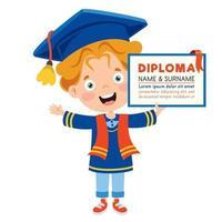 Happy School Kid Graduating vector