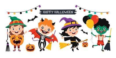 Concept Of Happy Halloween vector
