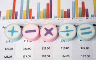 Math Symbols Charts Graphs spreadsheet Finance Banking Account photo