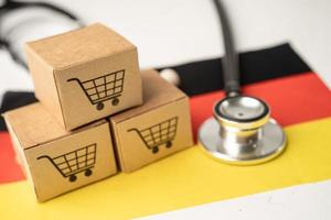 Shopping cart logo with Germany flag photo