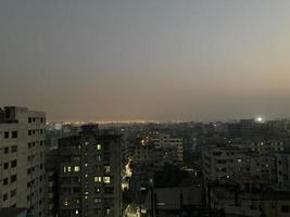 Cityscape night lights photo