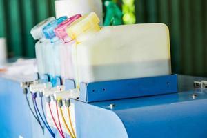 Impresora de inyección de tinta toners línea de tubo de colores foto
