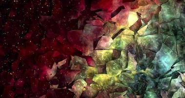 astratto colorato animazione multicolore liquido sfondo bellissimo film di pittura digitale sfondo astratto film video