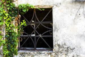 Window with geometric grating photo