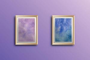 Set of watercolor hand painted background texture Wall art aquarelle abstract emerald backdrop horizontal template vector