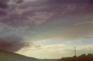 Stormy sky at twilight photo