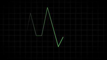Pulse line rhythm vector template on dark video