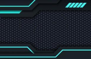 Dark black and blue minimal tech background abstract modern texture design. Futuristic modern tech innovation concept background vector