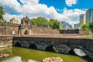 Main gate of Fort Santiago in Manila, Philippines photo