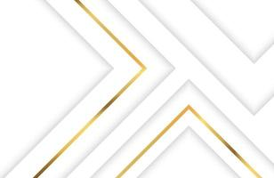 Technology background with white and gold geometric element. Abstract modern Elegant geometric design with golden line vector