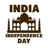 happy independence day india landmark national tourism poster silhouette style icon vector