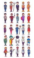 People with different job and profession collection vector