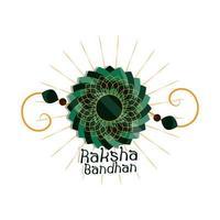 raksha bandhan traditional indian bracelet mandala of love between brothers and sisters vector