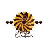 raksha bandhan brazalete indio tradicional celebración de vinculación hermanos y hermanas vector