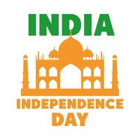 happy independence day india landmark national tourism poster flat style icon vector